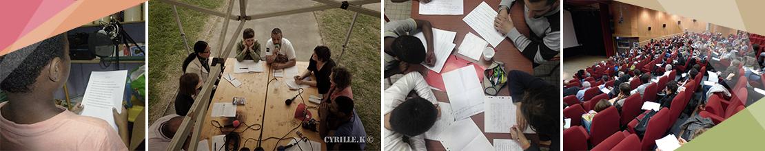 Les actions « Vivre Ensemble » s'adressent à toutes structures à vocation socioculturelle, établissements scolaires, établissements médico-sociaux et unités éducatives et judiciaires. Ces actions sont élaborées avec les professionnels dans une démarche de co-construction à destination d'enfants, d'adolescents et d'adultes.
